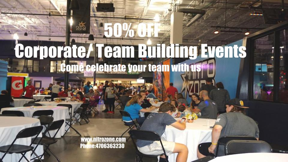 50% off Corporate/Team Building Events
